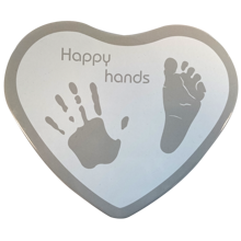 Odcisk dłoni Happy Hands - Heart Silver